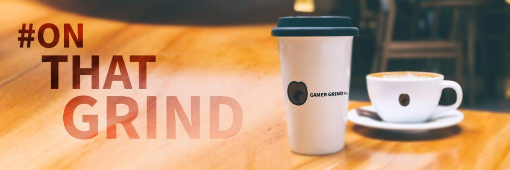 #OnThatGrind coffee banner